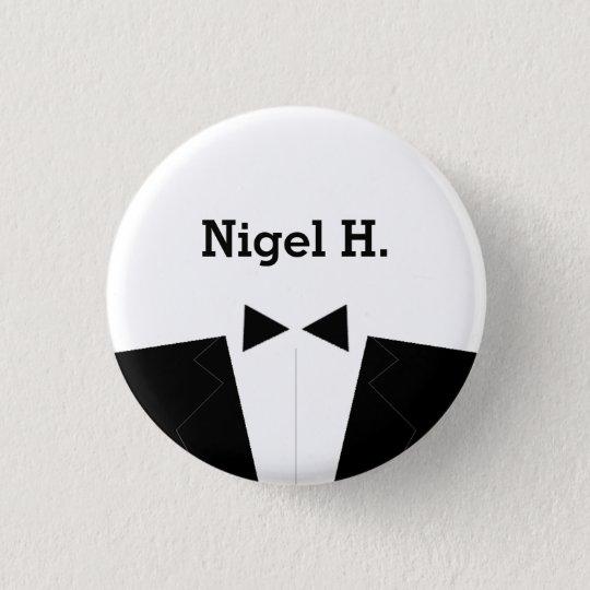 Best Man or Groomsman ID Button