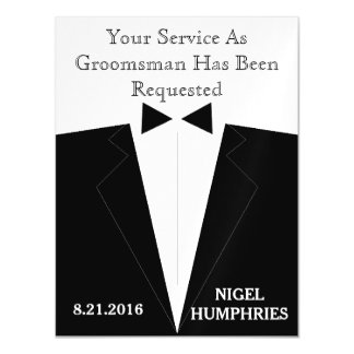Best Man or Groomsman Reminder Magnetic Invitations