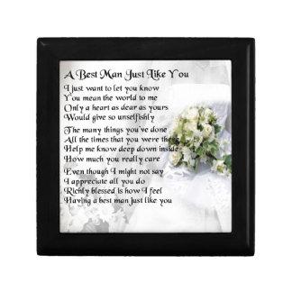 Best Man Poem - Wedding Bouquet Design Small Square Gift Box