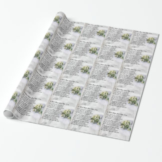 Best Man Poem - Wedding Bouquet Design Wrapping Paper