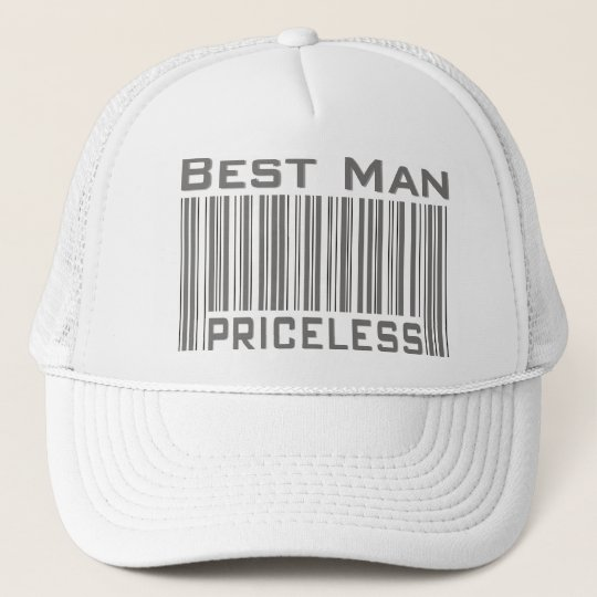 6136757215a Best Man Priceless Trucker Hat