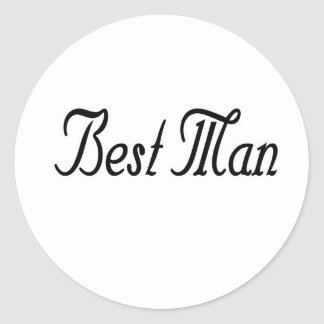 Best Man Round Sticker