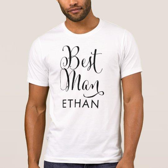 Best Man Shirt | Black Script Writing