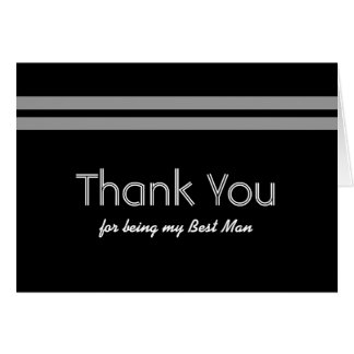 BEST MAN Stripe Wedding THANK YOU Custom Name V01 Greeting Card