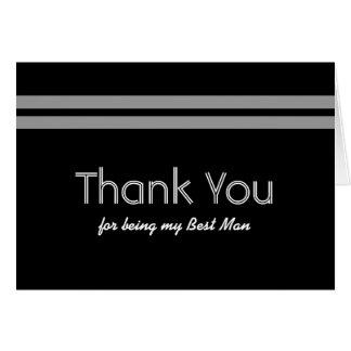 BEST MAN Stripe Wedding THANK YOU Custom Name V01 Greeting Card