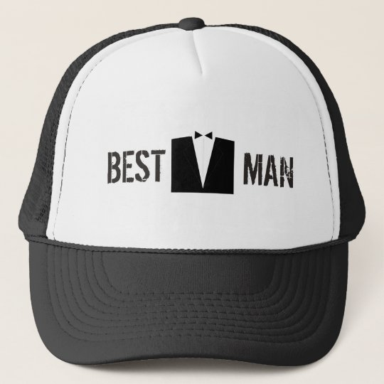 Best Man Suit Trucker Hat
