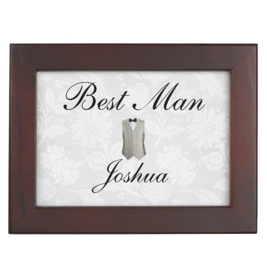 Best Man Thank You Gift Keepsake Box