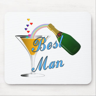 Best Man Toast Blue Mouse Pad