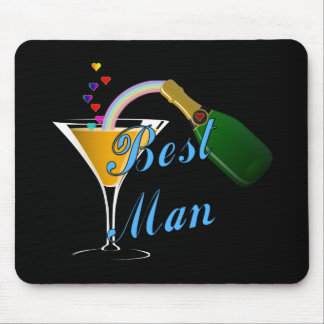 Best Man Toast Blue Mouse Pads