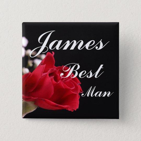 Best Man Wedding 15 Cm Square Badge