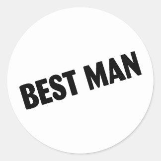 Best Man Wedding Black Stickers