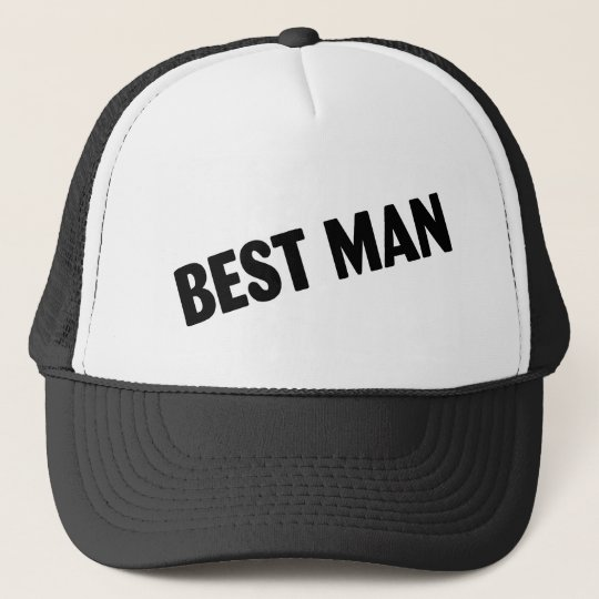 Best Man Wedding Black Trucker Hat