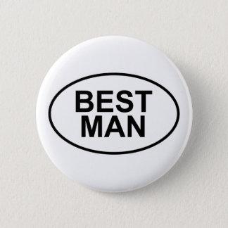 Best Man Wedding Oval 6 Cm Round Badge