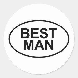 Best Man Wedding Oval Round Stickers