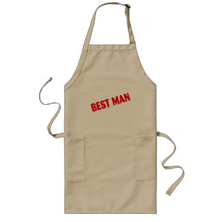 Best Man Wedding Red Long Apron