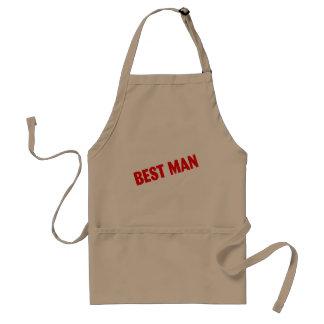Best Man Wedding Red Standard Apron