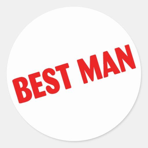 Best Man Wedding Red Sticker
