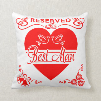 Best Man's Cushion. Reserved for the Best Man Cushion