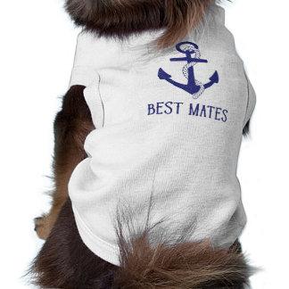 Best Mates Anchor Matching Dog and Human Shirt