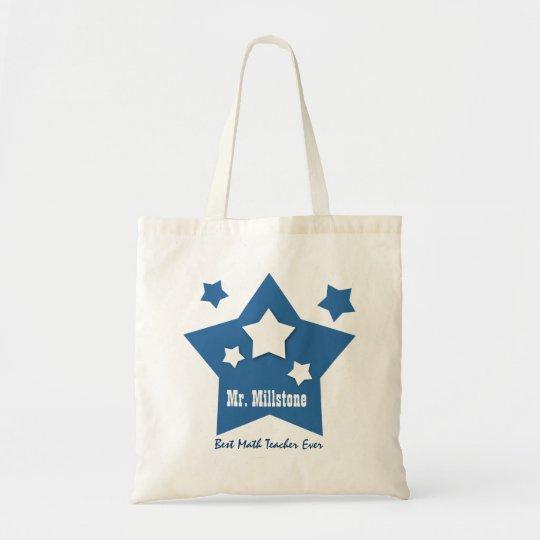 Best MATH TEACHER Blue Stars Custom W5 Tote