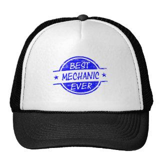 Best Mechanic Ever Blue Mesh Hats