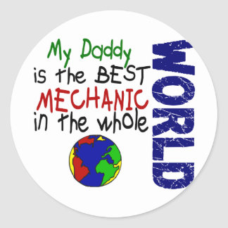 Best Mechanic In World 2 (Daddy) Classic Round Sticker