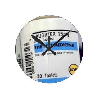 Best Medicine Round Wallclocks