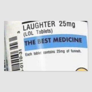 Best Medicine Rectangular Sticker