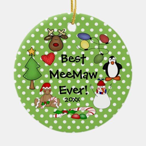Best MeeMaw Ever Christmas Ornament