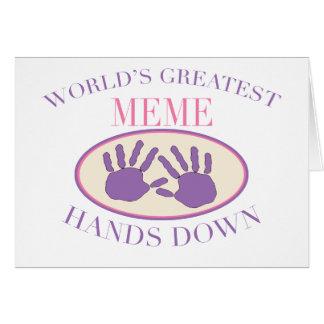 Best Meme Hands Down T-shirt Card