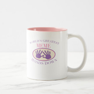 Best Meme Hands Down T-shirt Two-Tone Coffee Mug