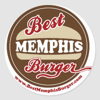 Best Memphis Burger Stickers