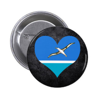 Best Midwayer Heart flag 6 Cm Round Badge