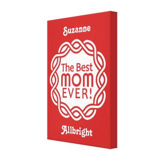 BEST MOM custom monogram canvas print