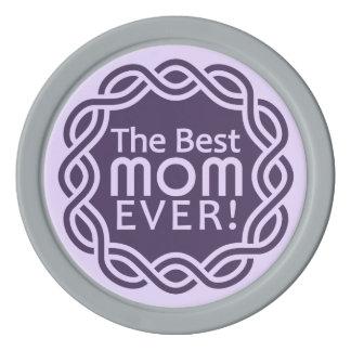 BEST MOM custom monogram poker chips