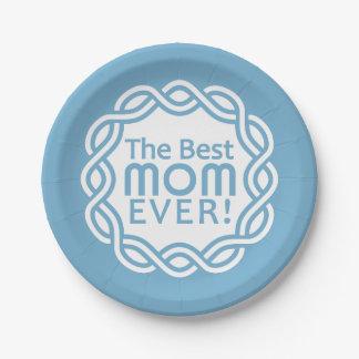 BEST MOM custom paper plates