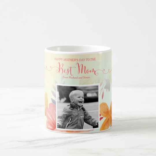 Best Mom Custom Photo Mother's Day Mug