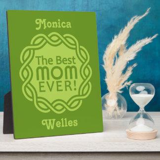 BEST MOM custom plaque