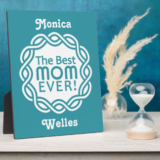 BEST MOM custom plaque