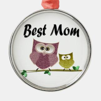 Best Mom cute Owls art Christmas Ornament