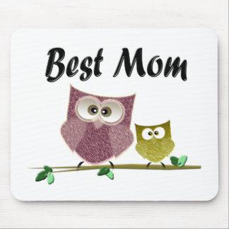 Best Mom cute Owls art Mouse Pad