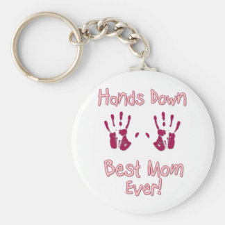 Best Mom Ever Basic Round Button Key Ring
