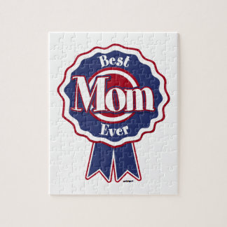 Best Mom Ever Blue Ribbon Jigsaw Puzzles