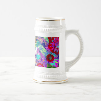 BEST MOM EVER Colorful Abstract Mothers Day Gifts Beer Stein