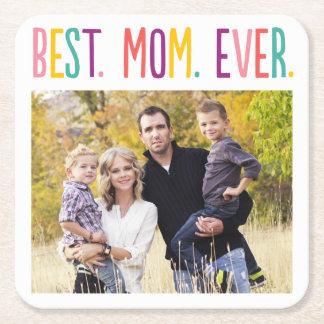 Best Mom Ever Custom Photo Coaster