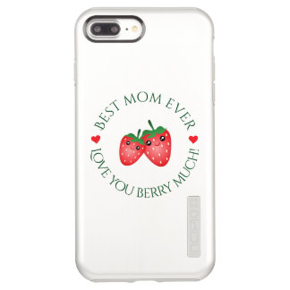 Best Mom Ever Love You Berry Much Cute Kawaii Pun Incipio DualPro Shine iPhone 8 Plus/7 Plus Case