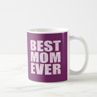 Best Mom Ever - Low Poly Geometric Triangle - Pink Basic White Mug