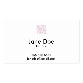 Best Mom Ever - Low Poly Geometric Triangle - Pink Pack Of Standard Business Cards