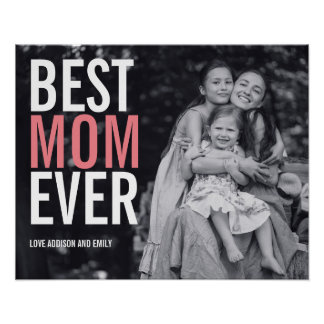 Best Mom Ever Mother's Day Poster Sign