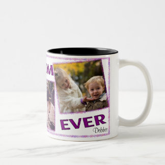 Best Mom Ever | Photo | Personalized Two-Tone Coffee Mug